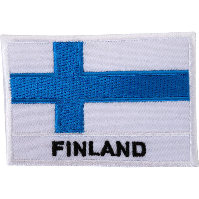 61dfe58dbbde Finland Flag Embroidered Iron Sew on Patch Finnish Shirt Jacket Embroidery  Badge