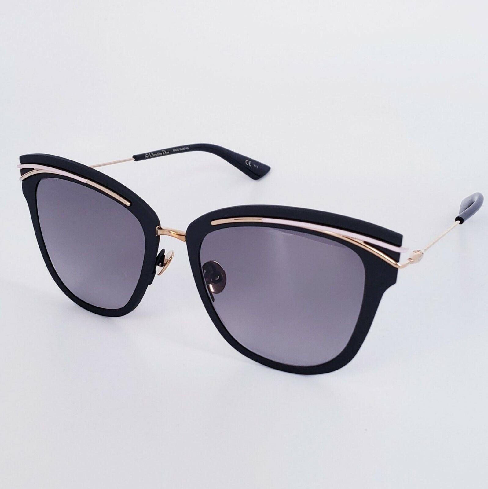 🍀Christian Dior Women's SODIOR YQ/EU Black Gold Pink Titanium Sunglasses 53mm