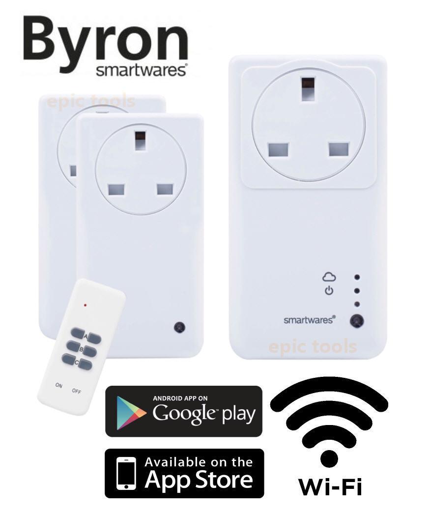 3 Bryon Smart WARES WiFi Mando a distancia ON   Apagado Enchufe Electrodoméstico
