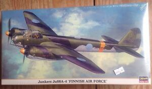 Hasegawa-Junkers-Ju88A-4-Finnish-Air-Force-Special-Version-1-72-00939-SEALED-New