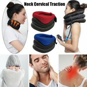 Neck-Support-Cervical-Collar-Traction-Device-Brace-Stretch-Pain-Relief-Therapy