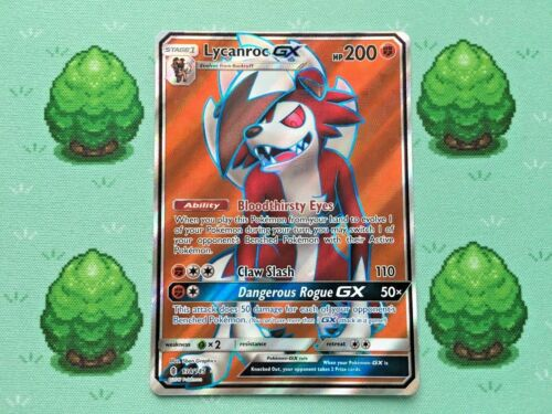 Full Art Pokemon SM Guardians Rising Lycanroc GX 138//145