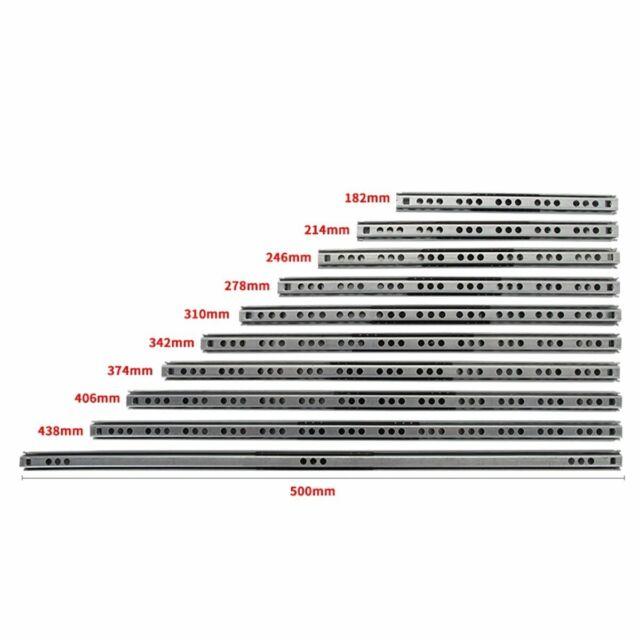 Gedotec Teleskopschiene beidseitig ausziehbar Schubladenschienen Vollauszug 450 mm ACCURIDE 3630 1 Paar /Überauszug mit Ein-Rastung in Mittelposition Tragkraft 45 kg Kugel-Ausz/üge seitlich