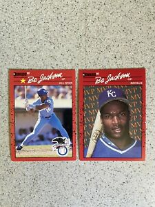 1990 Donruss Bo Jackson Error Cards! No Period After INC! #650 and BC-1! Mint!