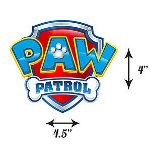 Paw Patrol Edible Icing Logo Large Cake Topper Ebay