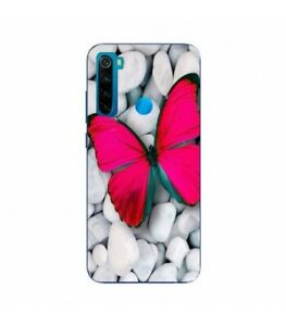 Coque-Redmi-NOTE-8T-Papillon-rose-fushia-butterfly