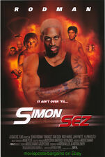 SIMON SEZ MOVIE POSTER Original DS 27x40 DENNIS RODMAN BASKETBALL Dude
