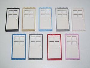 Lego-Porte-Maison-Commissariat-Batiment-1X4X6-Door-Choose-Color-60596-60623