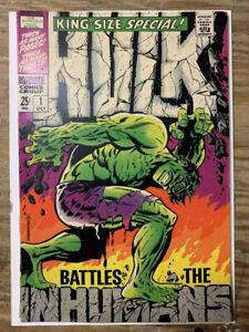 Hulk-Annual-1-Silver-Age-Marvel-Comic-Book-Inhumans-App-Steranko-Cover-VG