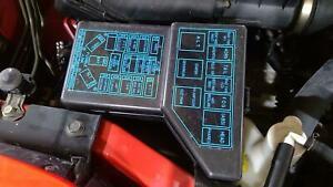 91 dodge stealth underhood engine fuse box with lid / fuses oem   ebay  ebay