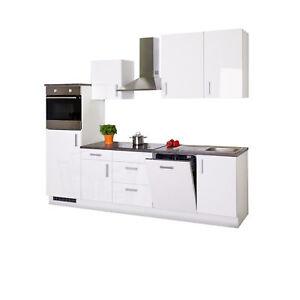 Küchenzeile mit Elektrogeräten Küchenblock Einbauküche 280 Küche ...