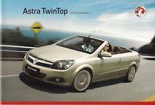Vauxhall Astra TwinTop 2008-09 UK Market Sales Brochure Air Sport Design