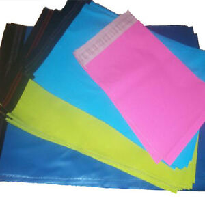 50-MIX-PACK-PINK-BLUE-GREEN-TURQUOISE-STRONG-COLOURED-MAILING-POSTAGE-BAGS