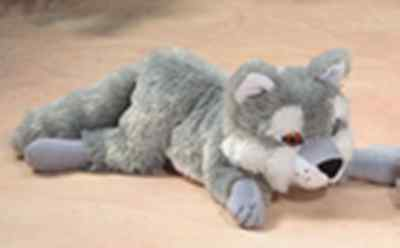 "11"" Floppy Wolf Plush Stuffed Animal Toy - New"