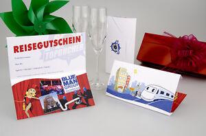 Blue Man Group + Hotel 3 * centrale/2 giorni Berlino Viaggio voucher BIGLIETTI CARTE