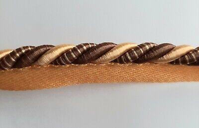 Mètre de Longueur de 10 mm à bride Piping Braid ~ ameublement ~ Bourgogne-COR588