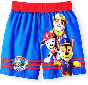 Macerie e Marshall Paw Patrol Boys Pantaloncini da Bagno Set di 2 con Chase Blu e Rosso