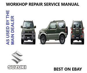 suzuki jimny workshop repair service technical manual 1998 2009 rh ebay com suzuki jimny m13a workshop manual pdf haynes suzuki jimny workshop manual