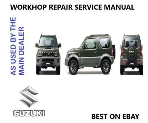 Suzuki Jimny Workshop Repair Service Technical Manual 1998-2009 DOWNLOAD