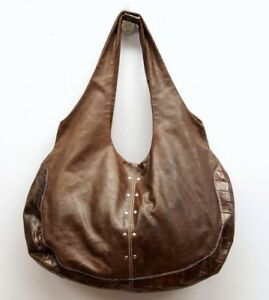 PULICATI-Brown-Distressed-Leather-Shoulder-Bag-Handbag