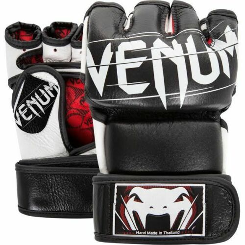 Venum Undisputed 2.0 MMA Gloves Nappa Leather Black Fight Training Martial Arts
