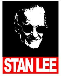 STAN-LEE-Style-Adult-T-Shirt-Black-White-or-Grey-MARVEL-HERO