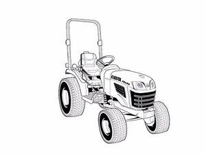 image is loading kubota-b2320-b2620-b2920-operation-manual-for-tractor-