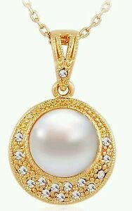 Yellow Gold Plated 034Pearl034 Crystal Rhinestones High Quality Fashion Jewellery - <span itemprop='availableAtOrFrom'>London, United Kingdom</span> - Yellow Gold Plated 034Pearl034 Crystal Rhinestones High Quality Fashion Jewellery - London, United Kingdom