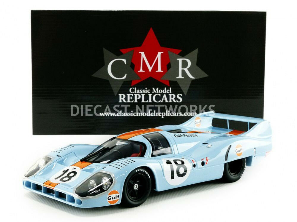 CMR PORSCHE 917 LONG TAIL GULF LE MANS 1971 Rodriguez Oliver  18 Scale New