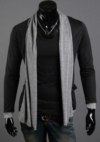 Mens Stylish Dandy Shawl Knit Cardigan Sweater Jumper Blazer Outwear Tops M//L