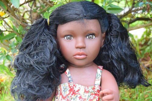 """SAMMAR regali grandi 16/"""" per neonate AFRO africano nero Bambola Reale Look 40CM"""