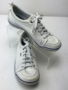 Keds White Canvas Athletic Tennis Shoes