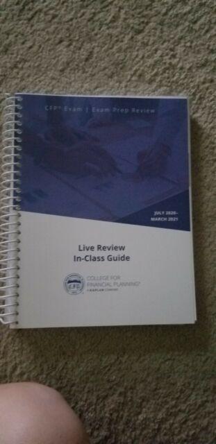 Kaplan CFP exam prep review books, Set of 7 books plus Review Guide