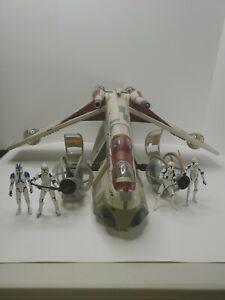 STAR-WARS-Clone-Wars-REPUBLIC-GUNSHIP-TOYS-R-039-US-EXCLUSIVE-Hasbro-2013-Read-Des