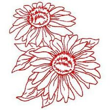 Brother/Babylock Embroidery Machine Memory Card REDWORK FLOWERS