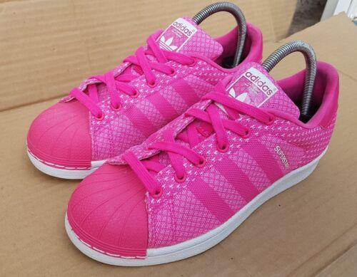 UK Trainers Superstar eccellenti Adidas in Weave taglia 5 Condizioni Pink Shell Toe wAZq6tz