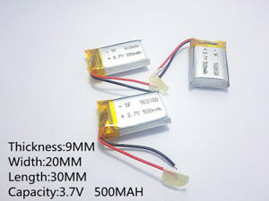 500mah 37v lipo polymer battery for mp3 dvd gps headphone tablet image is loading 500mah 3 7v lipo polymer battery for mp3 greentooth Images