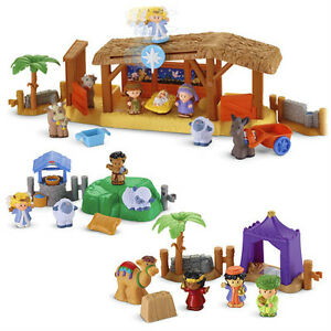 NEW-Fisher-Price-LITTLE-PEOPLE-Nativity-Playset-Christmas