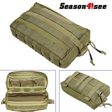 Airsoft Army Molle Multi-layer Utility Magzine Tools Pouch Tactical Bag Khaki