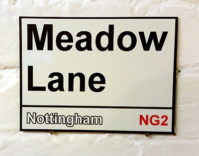 Notts County fc Meadow Lane Metal Street Sign 2 Sizes Available football