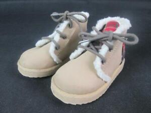 GAP Baby Boy 6-12 Months Cozy Faux-Leather Lace-Up Brown Booties Boots Shoes