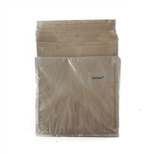 """200 Pellicola fronte Bags 10/"""" x 10/"""" Marrone Carta Finestra Trasparente Cibo Sandwich Buffet"""