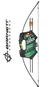 Recurve 15lb Draw Archery Set Barnett Lil Sioux Jr