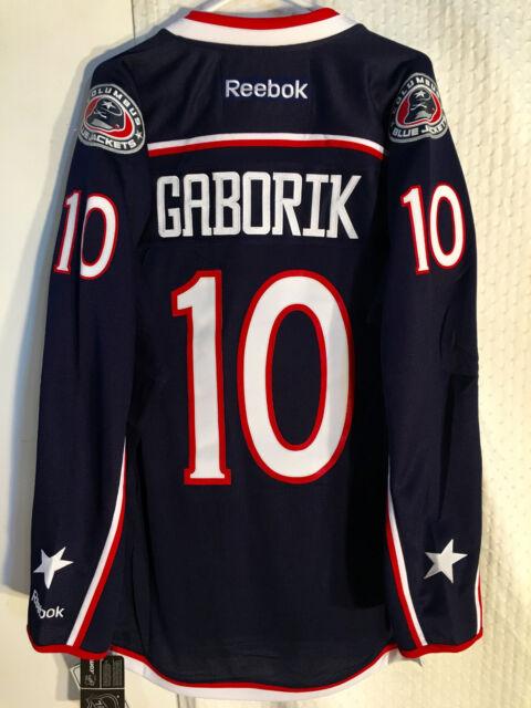 buy online e3960 08a2a Reebok Premier NHL Jersey Columbus Blue Jackets Gaborik Navy Sz L