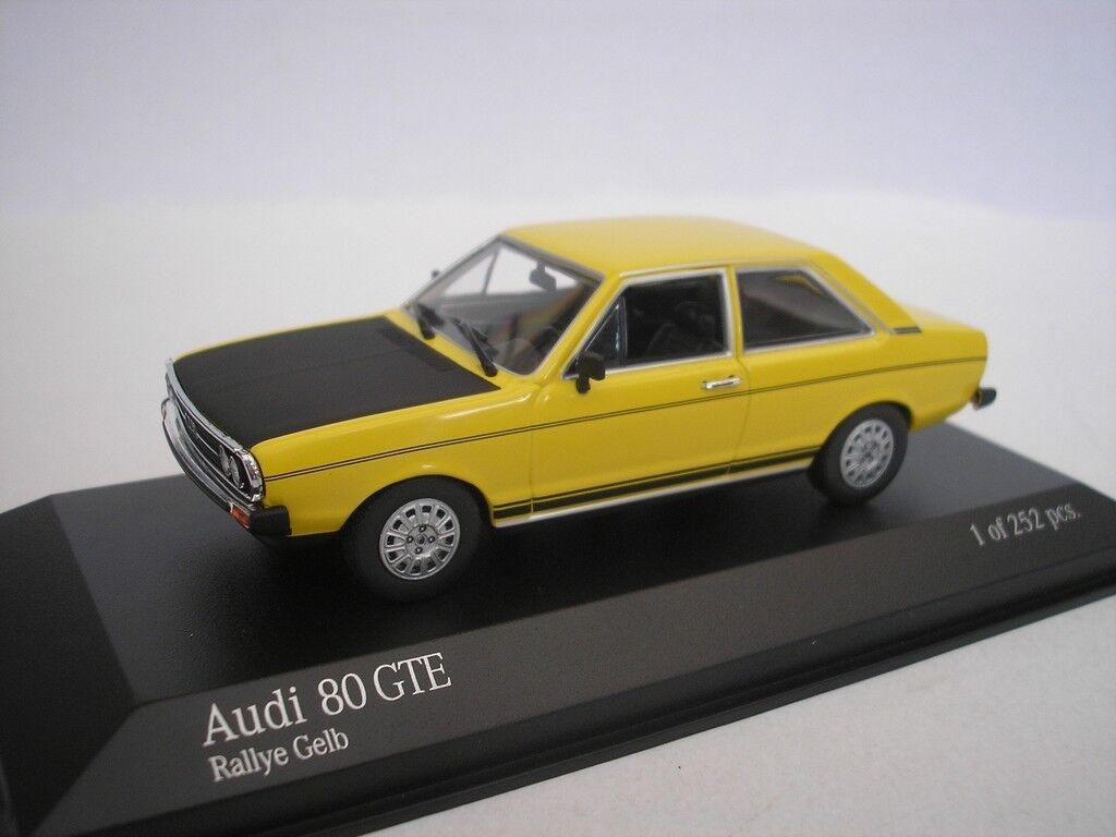 Audi 80 GTE 1975 Rally Amarillo 1 43 Minichamps 400015004 Nuevo