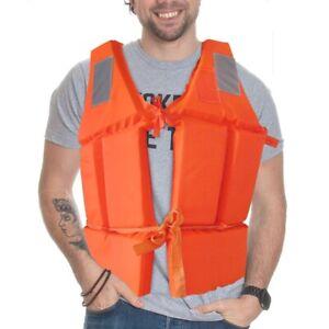 Schaum Rettungsweste Schwimmweste Schwimmhilfe Feststoffweste+Pfeife Orange ia