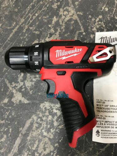 NEW Milwaukee 2407-20 M12 12V Li-Ion 3//8 Drill Driver Kit 1.5 ah Battery Charger