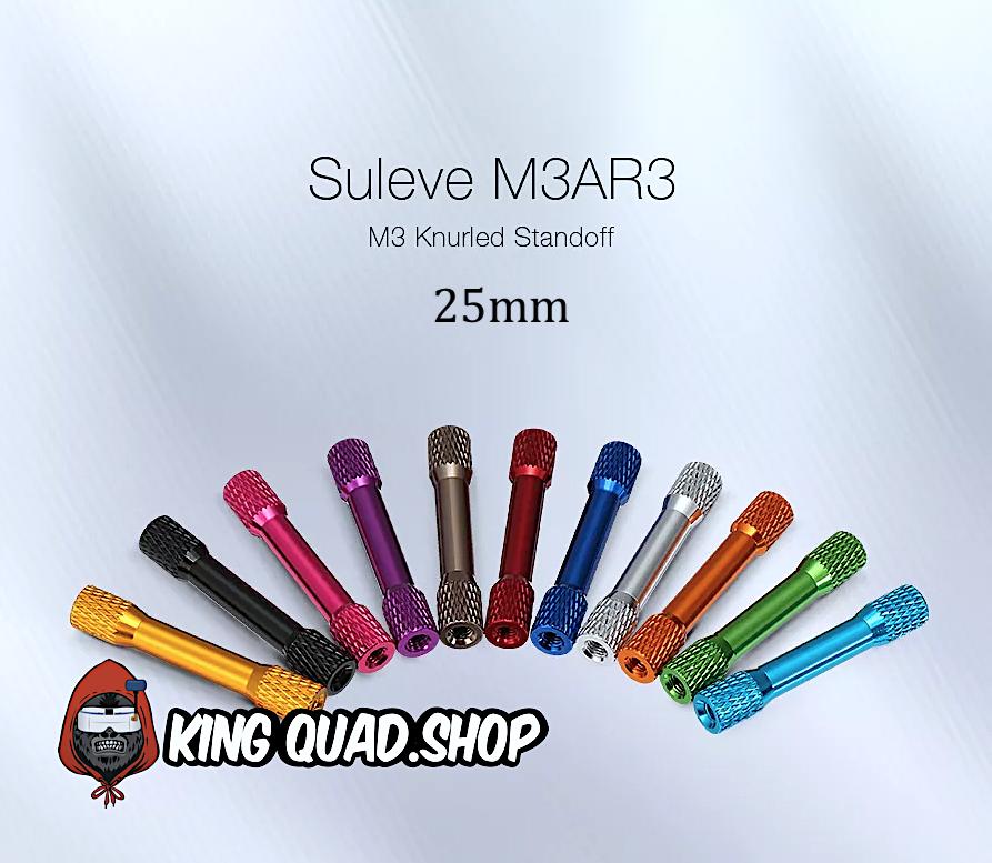 M3 25mm Knurled Standoff Aluminum Alloy Multi Color Standoffs (10 Pack)