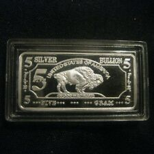 One REAL NEW (5g) Gram SOLID SILVER BAR PURE .999 FINE BULLION AIUY