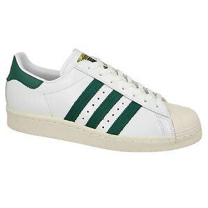 6b8423c4bbd Image is loading Adidas-Superstar-80s-Footwear-White-Collegiate-Green-Mens-